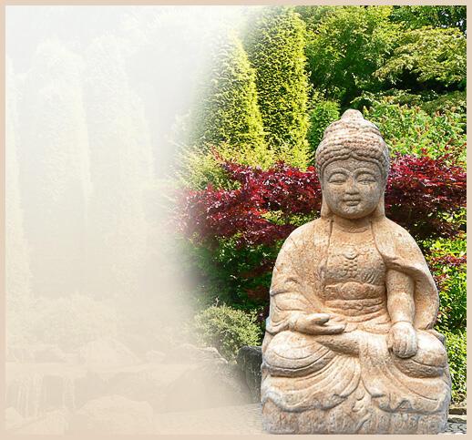 Buddha figur aus stein for Gartenfiguren aus steinguss