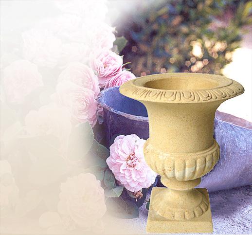 Gartenamphore sandstein stein steinguss kaufen for Gartenfiguren stein