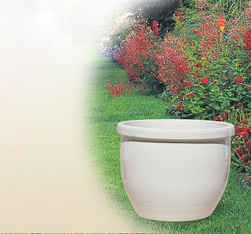 moderne steinzeugvase aus terrakotta f r den garten. Black Bedroom Furniture Sets. Home Design Ideas