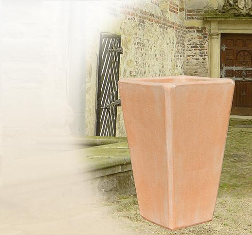 Moderne terracottat pfe f r den garten handel versand for Blumentopf winterfest
