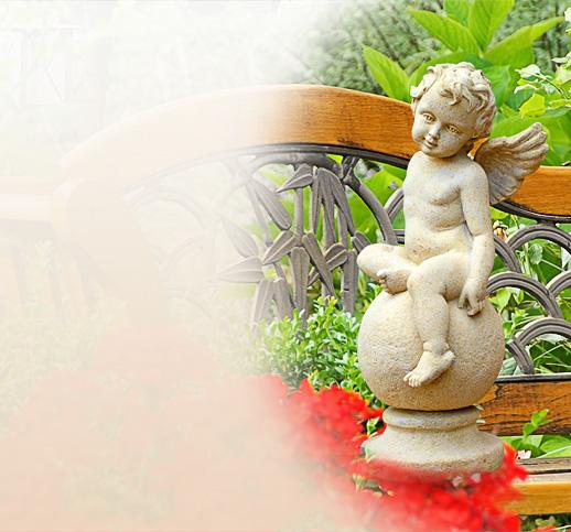Skulptur aus steinguss als engel for Stilvolle gartendeko