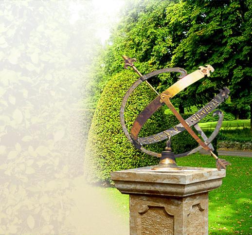 antike sonnenuhren f r den garten aus stein und bronze historische steinsonnenuhr. Black Bedroom Furniture Sets. Home Design Ideas