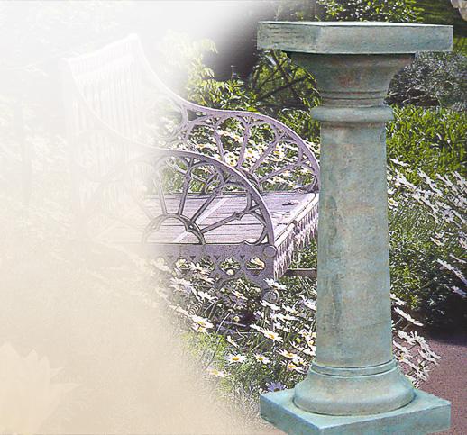 stilvolle steinsockel gartens ulen garten sandstein