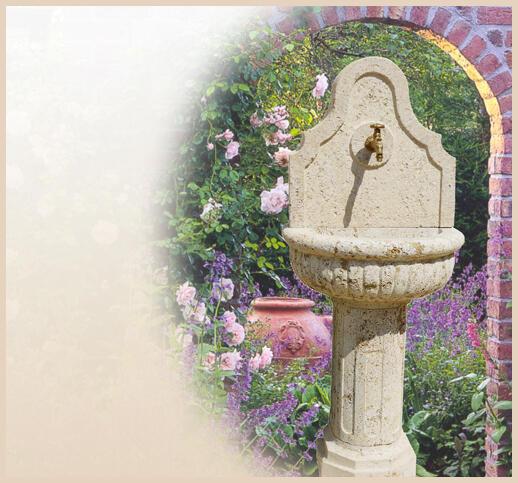 Antike brunnen - Garten wandbrunnen ...