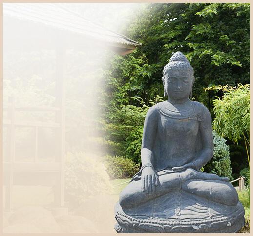 Stein Buddha Figuren