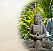 Tiga: Buddha Figur in tiefer Meditation