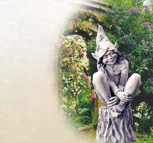 mystische elfen garten skulpturen devonshire stein kunststein sandstein kaufen. Black Bedroom Furniture Sets. Home Design Ideas
