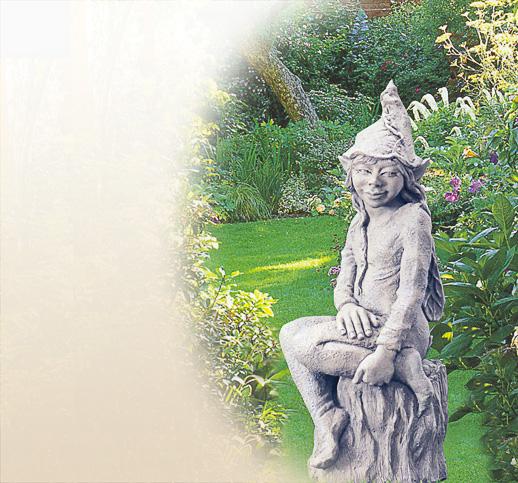 Mystische Gartenelfe Skulpturen Devonshire Stein Kunststein