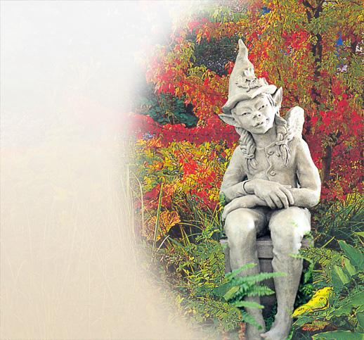 Mystische Gartenelfen Skulpturen Devonshire Stein Kunststein