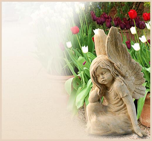 Gartenfigur engel for Gartenfiguren aus steinguss