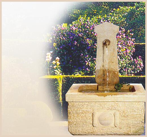 Granit Brunnen für den Garten