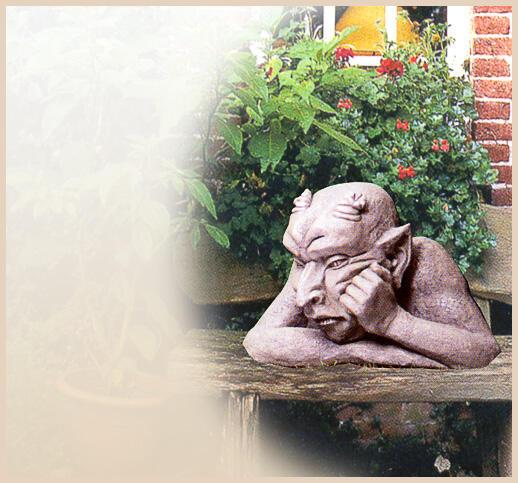 Gargoyle steinskulptur for Steinskulptur garten