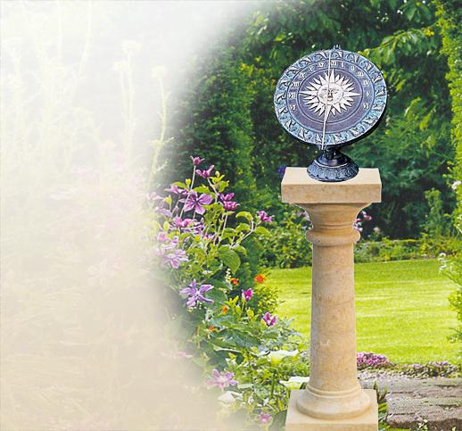 Horiziontale Natursteinsonnenuhr Metallsonnenuhr Sonnenuhr