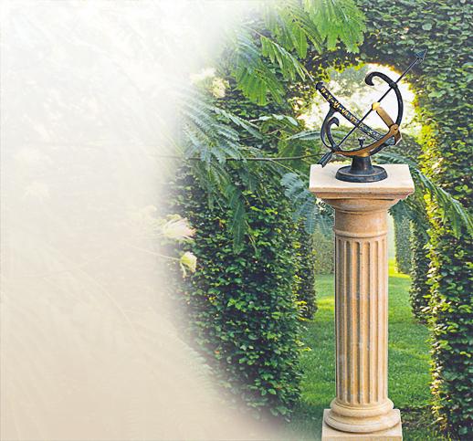 horiziontale sonnenuhr f r den garten s ulensonnenuhr bronzesonnenuhr messing naturstein. Black Bedroom Furniture Sets. Home Design Ideas