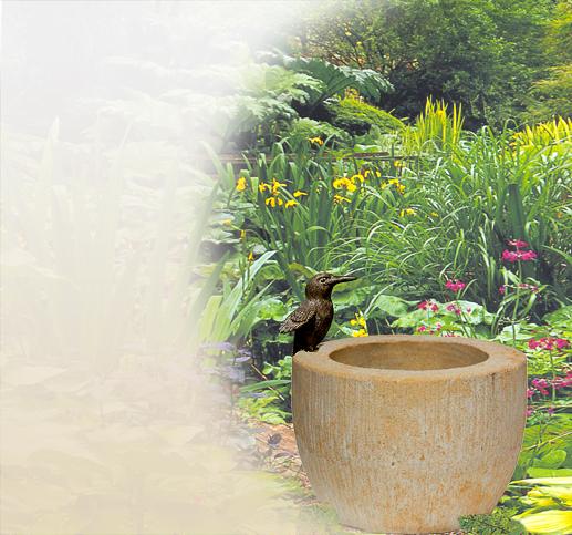 Gemeinsame Vogeltränken | Garten | Stein | Sandstein | Naturstein | Design #WI_96